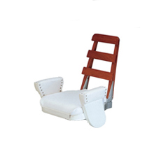 ladder-back flybridge boat seat